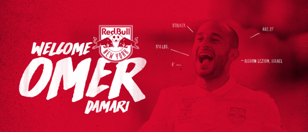 New York Red Bulls welcome Omer Damari to the club. | Image source: NYRB