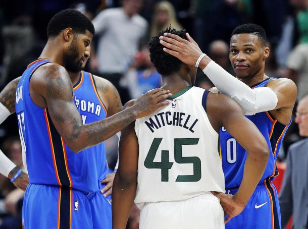 Will OKC be sent packing or it be the Jazz? It's hard to tell! Photo: Ravell Call, Deseret Deseret News