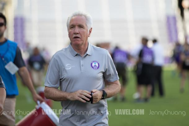Pride head coach, Tom Sermanni. l Photo: Jenny Chuang/ VAVEL USA
