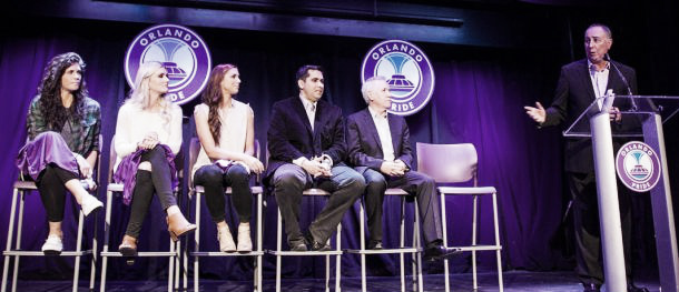 The Pride introduce their new signings to the press | Source: orlandocitysc.com