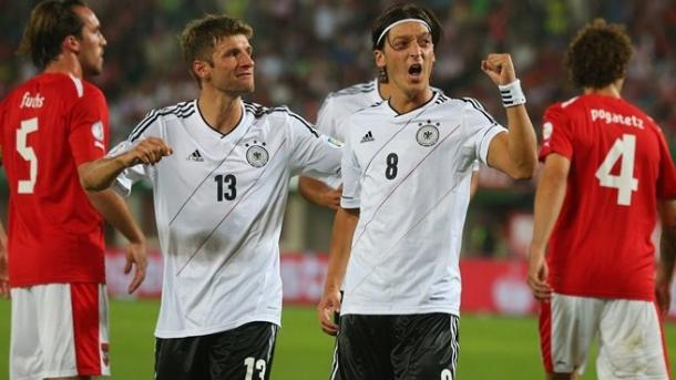 There was no way Ozil and Muller were going to be left out from the squad. Photo: Getty Images