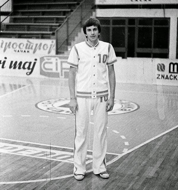 Zelko Obradovic en sus primeros años como jugador en el KK Partizan | Foto: KK Partizan