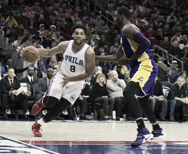 Could Jahlil Okafor end up somewhere else next season? Photo: Mitchell Leff/Getty Images