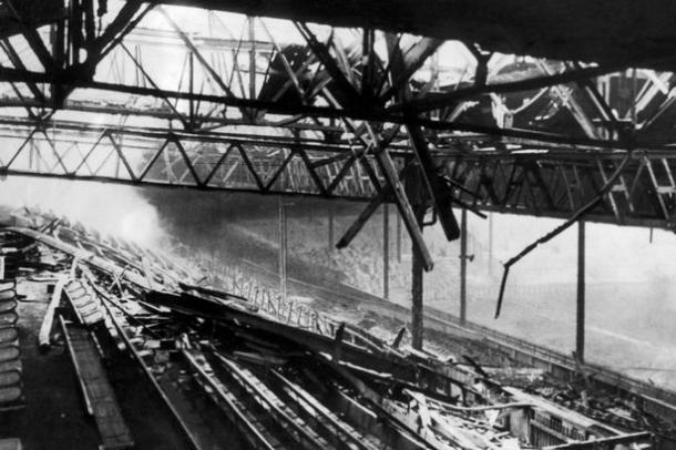 Old Trafford bombed