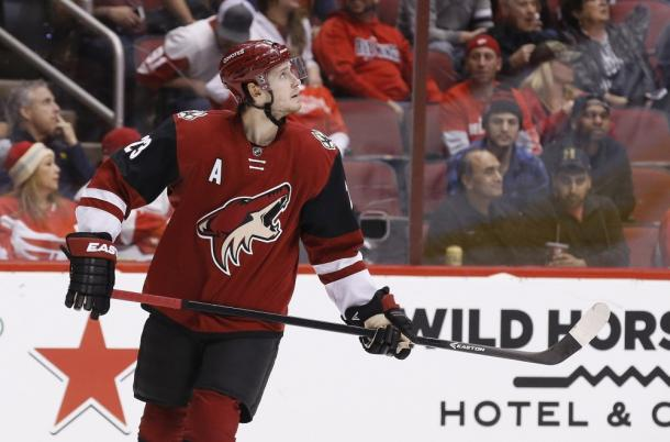 Oliver Ekman-Larsson scored the overtime winning goal in the Coyotes victory over the Flyers | Source: Ross D. Franklin - AP Photo