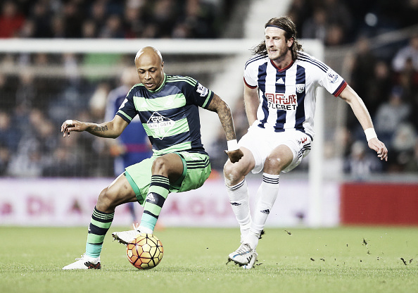 Olsson (right) challenges Ayew for the ball (Getty Images)