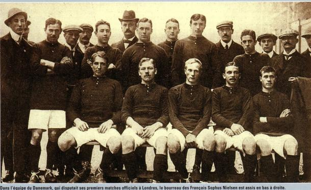 OLYMPIANS: Harald and his Danish team-mates in London for the 1908 Olympic Games.