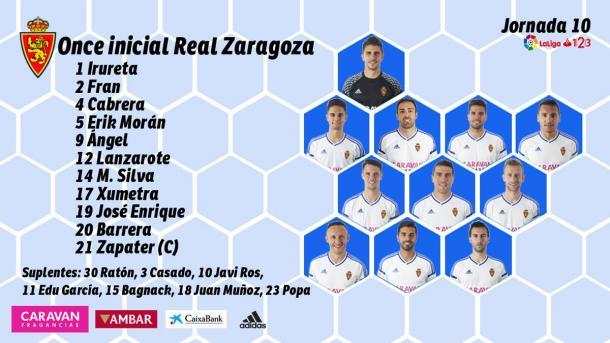 Once del Real Zaragoza   Foto: Real Zaragoza