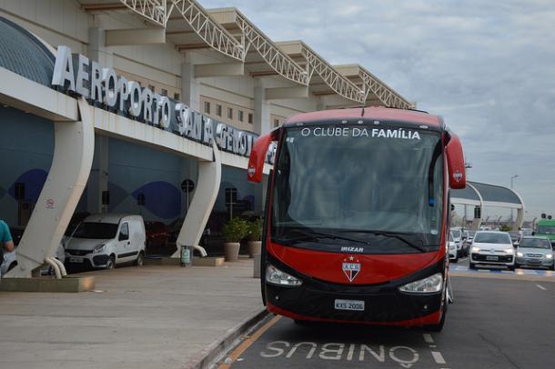 Delegação do Atlético-GO saiu de Goiânia na sexta-feira (13) e só retornará na quarta-feira (18) (Foto: Divulgação/Atlético-GO)