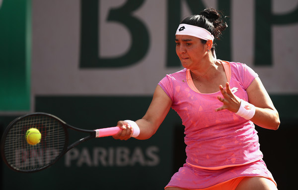 Ons Jabeur in action at the French Open, where she reached the third round | Photo: Julian Finney/Getty Images Europe