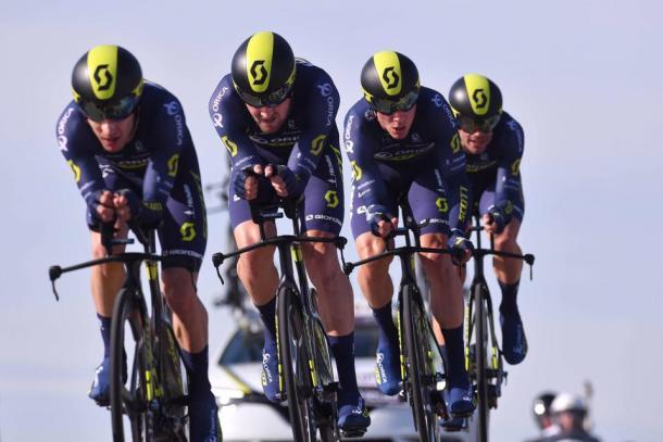 El bloque en llano será clave para la carrera | Foto: ORICA-Scott