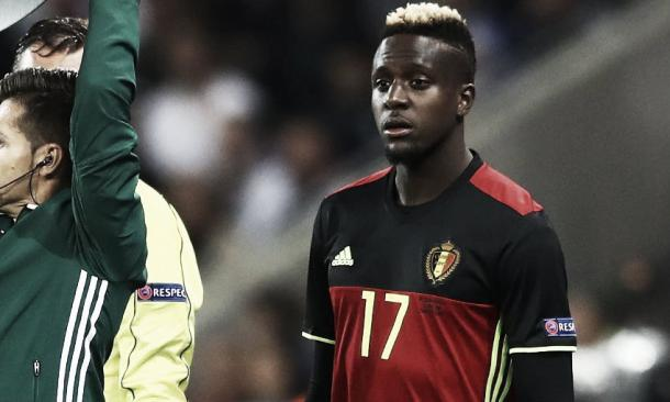 Divock Origi waits to come on for Belgium against Italy | Photo: Liverpool FC