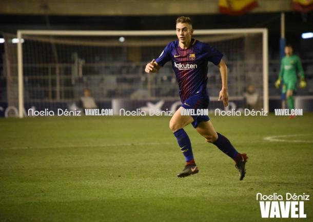 Oriol Busquets con el Barça B frente al Real Zaragoza. Foto: Noelia Déniz, VAVEL