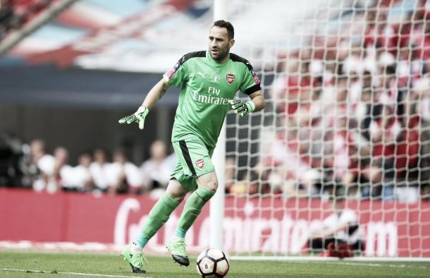 David Ospina realizó varias intervenciones en la segunda parte para salvar el triunfo   Foto: Arsenal