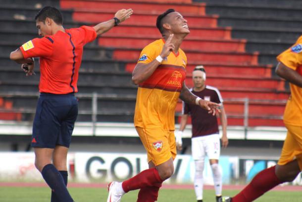Over García anotó su primer gol con el aurirrojo | Foto:  Aragua FC
