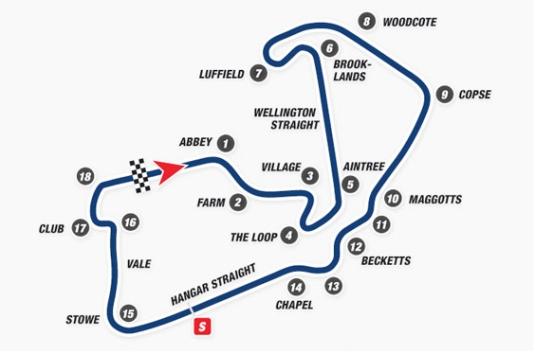 Mapa Silverstone actual. Foto: Bike Magazine