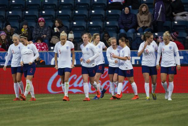 England looks to earn a second win their first SheBelieves Cup title in 2019. | Photo: PA Images