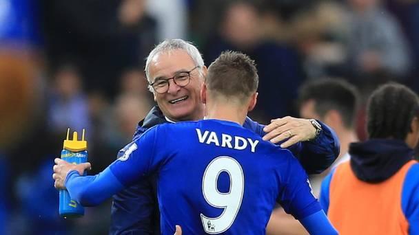 Ranieri y Vardy celebran una victoria. Foto: Independent