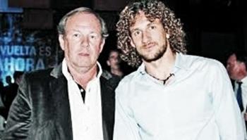 Osvaldo y Fabricio Coloccini. Foto: San Lorenzo de America