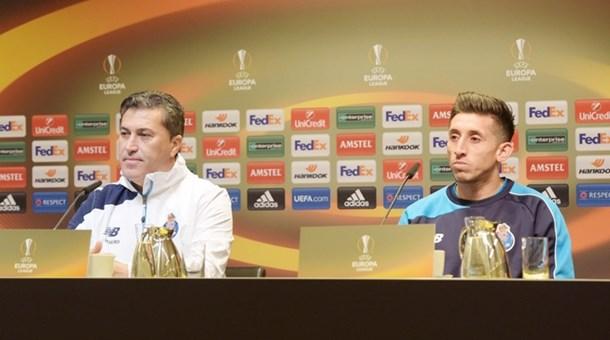 Peseiro y Herrera en rueda de prensa. | Fuente: fcporto.pt