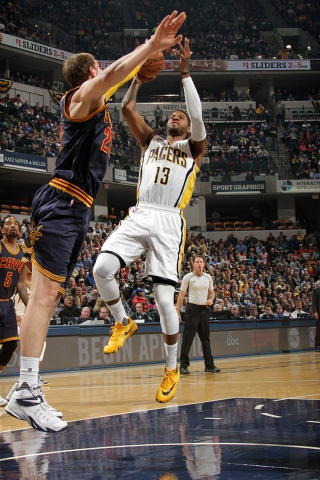 Paul George led the Pacers with 29 points Wednesday night. (Ron Hoskins/NBAE/Getty Images)