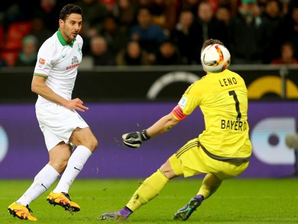Pizarro anota el 0-2. | Fuente: kicker.de