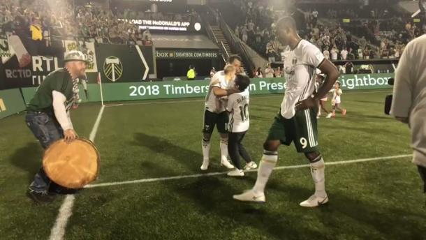 Timbers celebrando la victoria. // Imagen: MLSsoccer