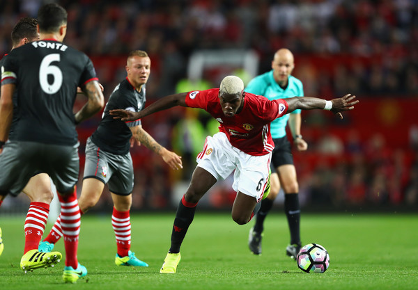 Paul Pogba looked terrific on Friday night. (Photo credit: Michael Steele/Getty Images)