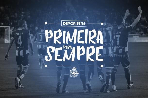 Instantánea subida por el club celebrando la permanencia en Primera División. Imagen: RC Deportivo