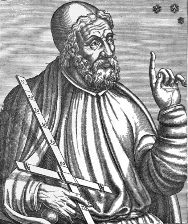 Retrato medieval de Ptolomeo. Fuente: Public domain.
