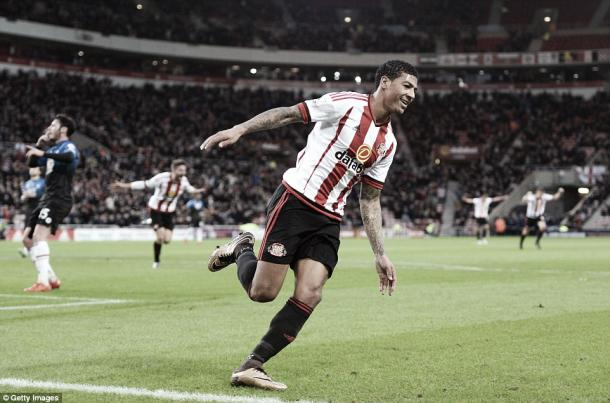 Above: Patrick Van Aanholt celebrating his goal in Sunderland's 1-1 draw with AFC Bournemouth | Photo: Getty Images