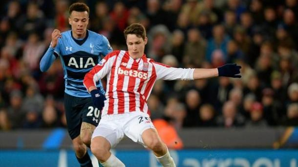 Wollscheid in action for Stoke. | Image source: Eurosport