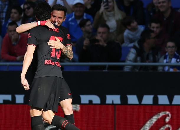 Saúl y Savic fueron los autores de los dos tantos del encuentro | Foto: Atlético de Madrid