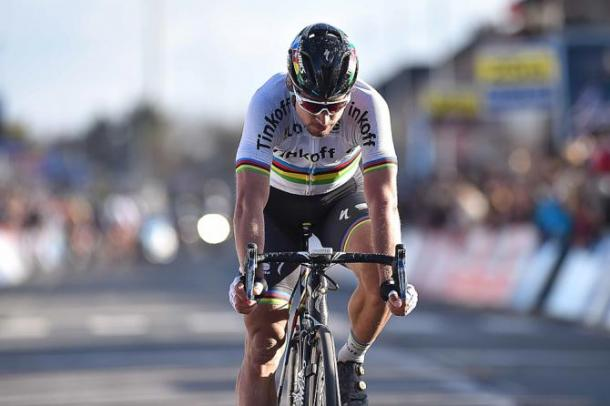 Two days earlier Sagan missed out on a victory at E3 after tactical naivety / Cycling News
