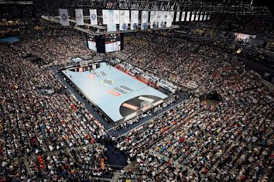 Un Lanxess Arena colmado durante la disputado del Final Four   Foto: vavel.com