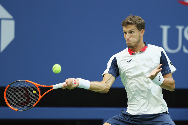 Pablo Carreno Busta in action | Photo: Elsa/Getty Images North America