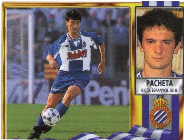 Además de como entrenador de Oviedo, Elche, Numancia o Cartagena, Pacheta también destacó como jugador del Espanyol.