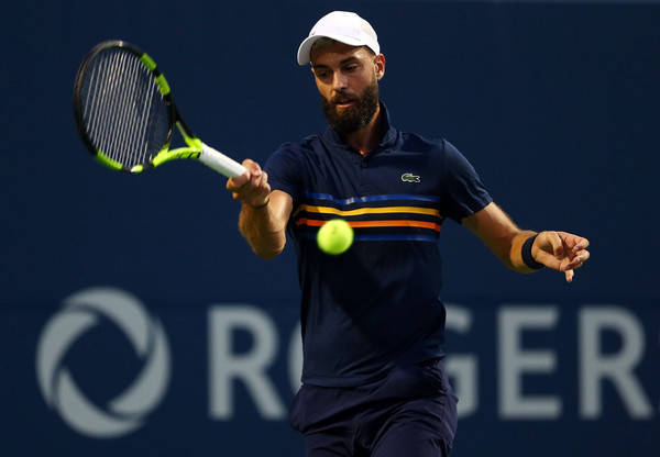 Benoit Paire had some flashy moments in his loss to Nadal on Wednesday, but did not have the consistency to hang with the world number one. Photo: Getty Images