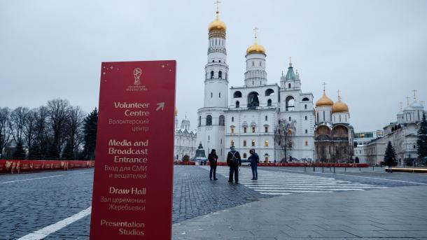 El Palacio Estatal del Kremlim, preparado para el sorteo. (Foto: FIFA.com)