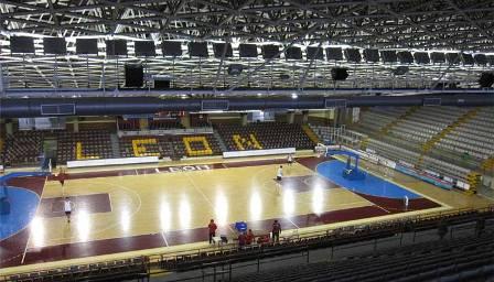 Interior del Palacio de los Deportes de León. Foto: Ayuntamiento de León.