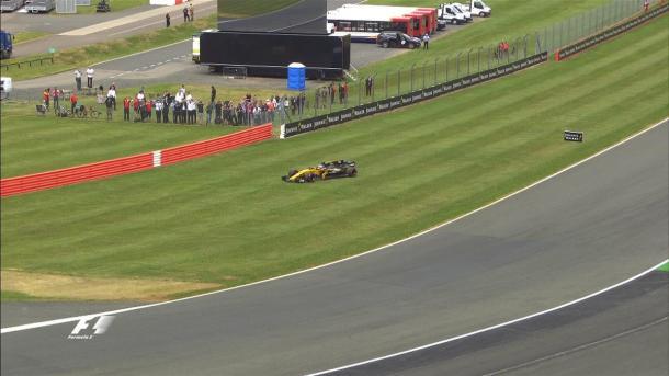 Palmer abandonou antes mesmo da largada (Foto: Divulgação/F1)