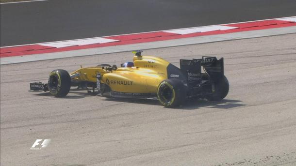 O momento da rodada de Palmer (Foto: Divulgação/F1)