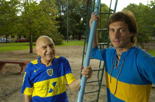 Pancho Varallo junto a Guillermo (Foto: Clarín).
