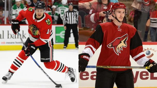 Richard Panik and Laurent Dauphin headed to the desert. (Photo: nhl.com)