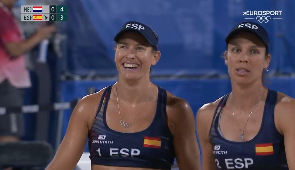 Pareja española en los Juegos Olímpicos // Fuente: Eurosport