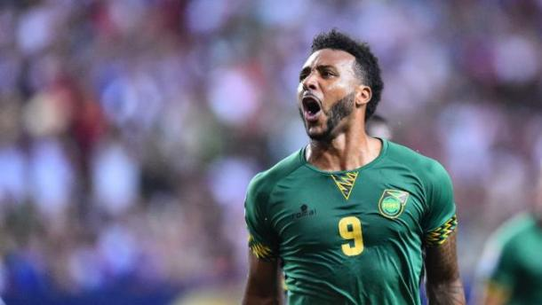 Giles Barnes will need to step up against Mexico on Thursday if Jamaica wants to have a chance of leaving the Rose Bowl with at least a point. Photo provided by AFP.