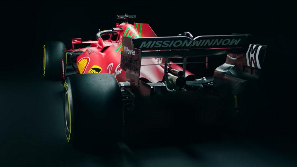 Parte trasera del Ferrari del 2021. (Fuente: F1)