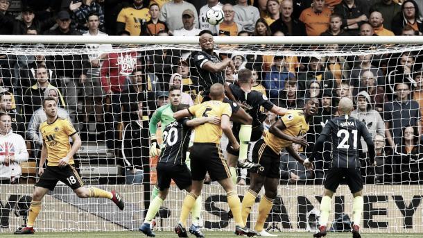 Último enfrentamiento entre el City y Wolves. Foto: Premier League.