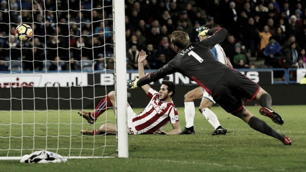 Sobhi marcó la igualdad para el Stoke en el partido anterior: Foto: Premier League