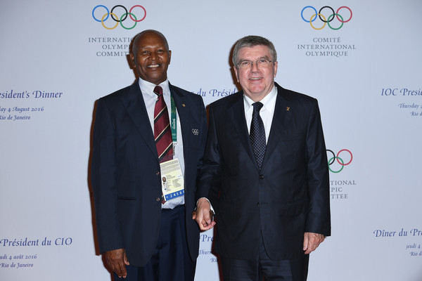 Kip Keino meeting with Olympic President Thomas Bach. Photo Credit: Pascal Le Segretain of Getty South America